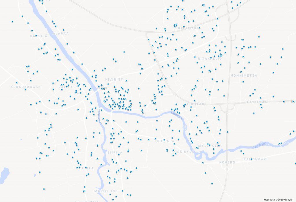 Lapualaiset yritykset kartalla